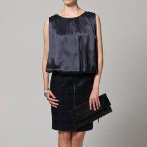 Escada Sport Ink Black Deena Silk-Overlay Dress